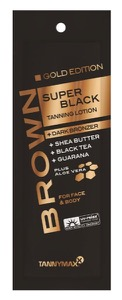 Lotion Brown Super Black Tanning GOLD Edition + bronzer 15ml (Tannymaxx)