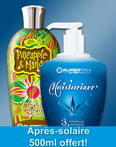 "Duopack promo XXL : Accélérateur ""Pineapple & Mango"" + Aftertan (Supertan)"
