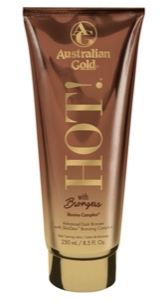Lotion HOT! bronzer, version avec autobronzant (Australian Gold)