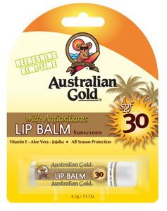 Stick lèvre SPF30 ® protection soleil naturel (Australian Gold) Lip Balm Stick 30ml